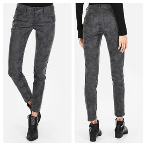 Express Faux Suede Dark Gray Ankle Legging Jeans